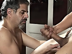 Chemistry started working between them and soon the man had the twink's stiffening sausage in his throat xxx mature gay men