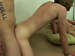 With Corey on all fours, Diesal slowly slid his cock into the tight ass even as John lay out in front of Corey, jerking off as he watched the other tw