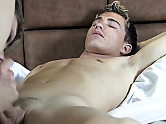 Xander is fervent to do a good job so he takes Gavin's towel quiet and proceed to massage his back and ass gay twink facials gallerys