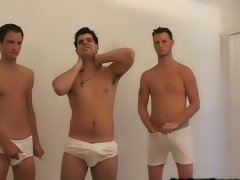 As soon as the condom was on, there was Corey sticking his cock in Caleb's ass men sucking young twinks