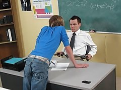 A teacher's aide is interviewing conducive to a stand within the school first gay gym at Teach Twinks