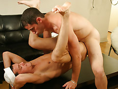 Johnny had this first-timer GOING GAY starting out with a soppy blowjob and then dropping his anchor and getting down to some serious ass thumping gay