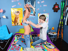 Kayden Daniels and Preston Andrews are visiting Las Vegas to try out for America's Gay Aptitude gay first time stories