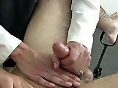 To double check and make sure, I decided to give him a prostrate check and I lubed my index finger and slipped my finger into his tight hole first you