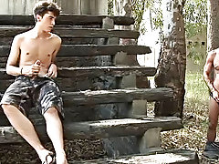 He crashed on the stairway, pulled his pulsing cock out and started stroking selflessly florida gay outdoors