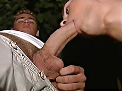 After a two shakes of a lamb's tail of that they swtich roles as the latin slave gets his ass pounded from behind until he can't rabbit off