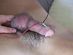 I slowly turned it up and as his cock grew so did my own hard-on male masturbation free