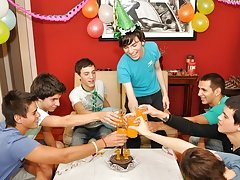 Twinks Happy Birthday party gay twink sex hot at Julian 18