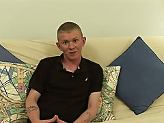 Shifting around so that he was lying on the futon, Sean jerked furiously on his hardening cock, his heavy, low hanging balls bouncing up and down how
