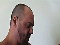 Carlo Cox arrives to give Butch his rental and is quickly invited in for a rub down gay masked muscled leathe at Alpha Male Fuckers