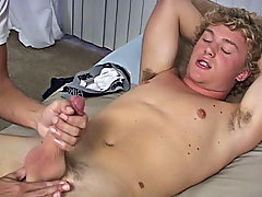Cameron starts thumbing in the course the ammunition and likes what he sees cum gay twink