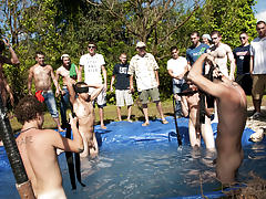 There is nothing like a nice summer time splash, especially when the pool is man made and ghetto rigged as fuck yahoo group gay bukkake