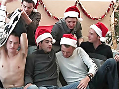 We acquire seven sexy elves for you to enjoy as Santa reads his poem spamfree gay groups olde at Broke College Boys!