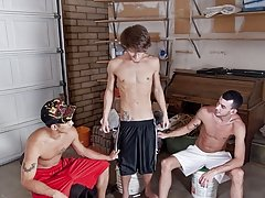 I told them to drop those porn mags and entertain each other men shirtless therapy group at Broke College Boys!