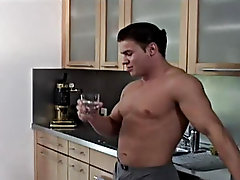 At the beginning of the scene you will be amazed seeing the dream kitchen and you command want to cook in it gay cum blow