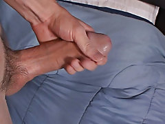 Taylor plays with his balls and strokes that incredible hot cock of his masturbation