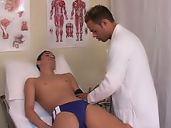 Doctor had me come in and take a seat on the bed, while he started to assess my injury and figure out what is wrong free gay cock sucking twink