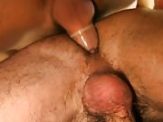Handsome men nude with flaccid dick and...