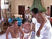 The capa boys are prepping for their toga party by having their pledges clean up the frat house and wrestle for invitations to the party of the year g
