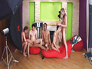 Gay group anal sex and gay group at Crazy Party Boys