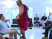 Gay group fuck and male group masterbation at Sausage Party
