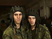 Military gay camp and men examination...