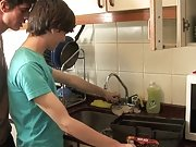Twinks fucking at a kitchen very well gay muscular twinks at Julian 18