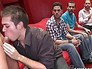 Men cumming after blowjob and gay xxx...