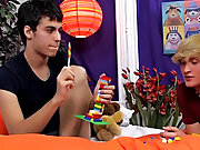 Legal young gay twinks lick cum facial and...