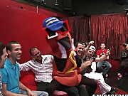 Classic gay blowjob cumshots and group...