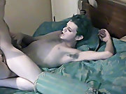 Gay solo uncut cumming penis dick cock...