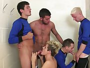 Young gay blonde boys moaning and...