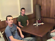 Group gay shower and group male masturbation