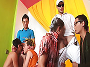 Free gay group sex pics and promo code blue man groups at Crazy Party Boys