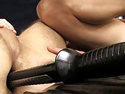 Bondage made to eat big cum pic and super...
