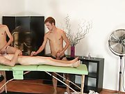 Chris R is back, taking advantage of his massage clients gay group action