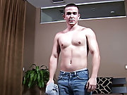 Hung twinks exchange facials and beefy gay men masturbating
