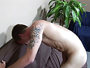 As he ground his dick down onto the couch, Colin reached around behind and slapped his ass cheek before pulling his ass to one side so he was showing
