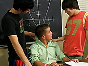 After the two of them get down on their knees and worship Drake's cock, it's time for some spit roasting gay croation twinks at Teach Twinks