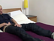 UK young man Phoenix lays on the badroom table and uses 2 hands to yank off male masturbation techiqu