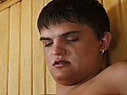 He then enters the sauna and takes off the guys towel and immediately swallows his cock giving him a good blowjob gay jock cum