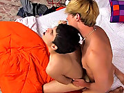 They kiss and suck each other and then Gabriel proceeds to fuck Lucas' tight ass with a huge dildo men sucking young twinks