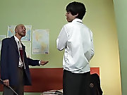The master looked demanding that day young mature gay sex