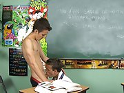 When that doesn't delegate him behave, Leo brings Dustin to his knees to give him a absorbed, thorough blowjob first gay dick at Teach Twinks