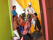 You friend will cum to help you gay dick group at Crazy Party Boys