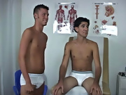 Dr. Pingerphuk asked Ricky and I to trade places, and I jumped up on the table amateur naked male