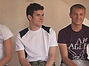 Aj goes right to work and helps Blake and Evan get undressed groups of men naked in th