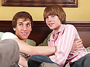Jade and Steven suck down loads of cock first time gay fuck