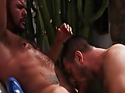 Getting the taste for hardcore man on man action nearby tasting every part of his hairy body, Dillon gives us a great rimming shot, so close you can s