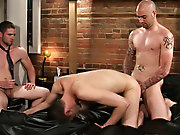 Sam and Johnny are visited by a christian missionary spreading the word of god male group nudity